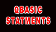 QBASIC Statements, CLS Statement, REM Statement, INPUT Statements