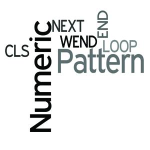 Numeric Pattern in QBasic- Series in QBasic
