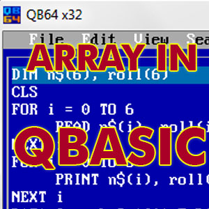 array in qbasic