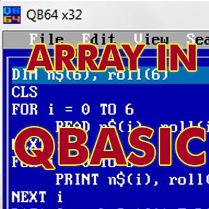 array in qbasic